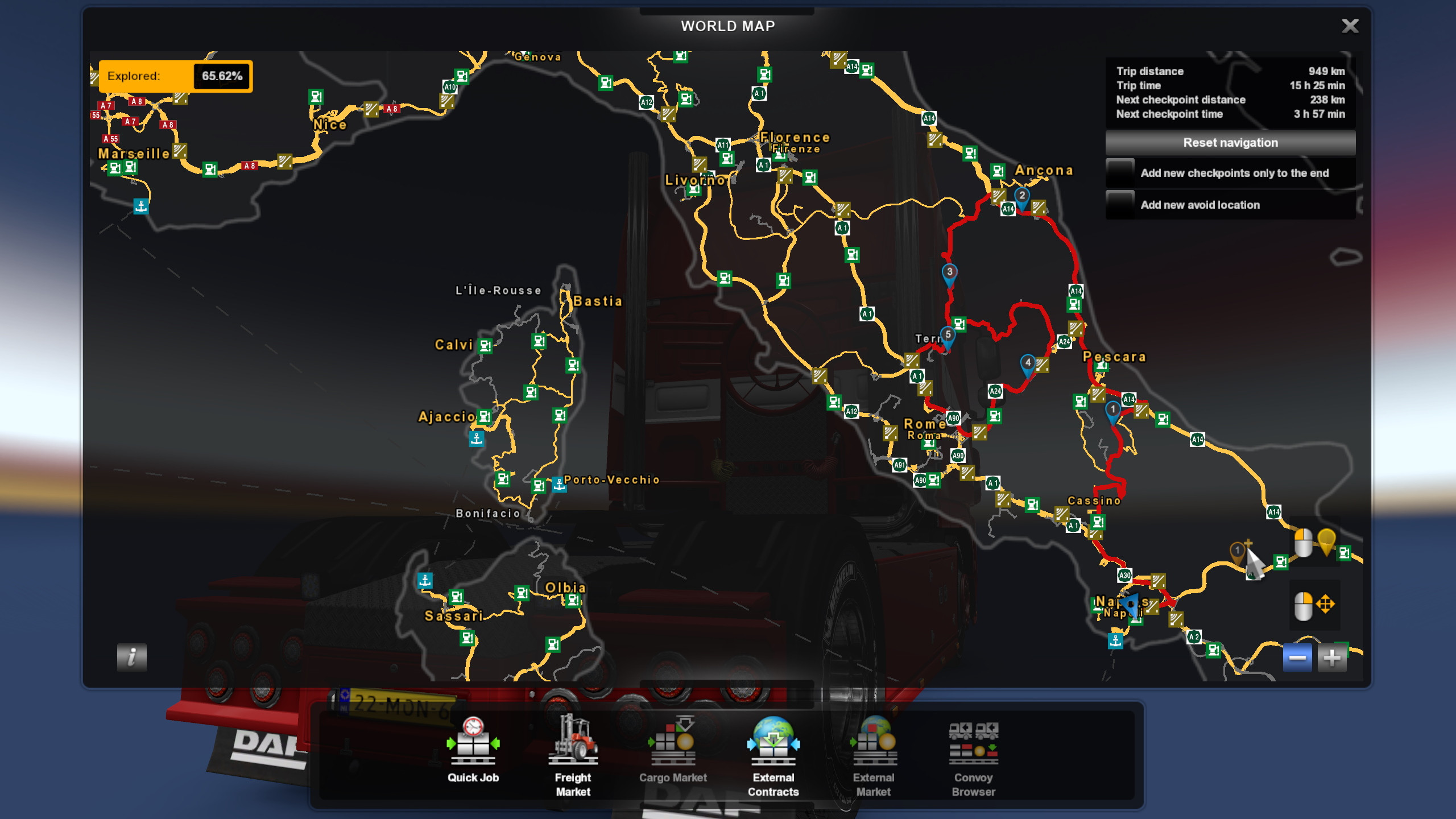 RLC Convoy Route Map