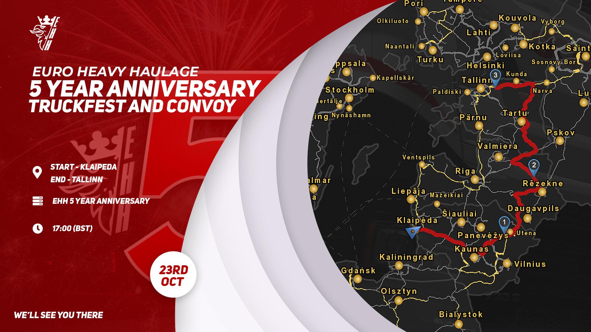 EHHVTC 5 Year Anniversary Route Map