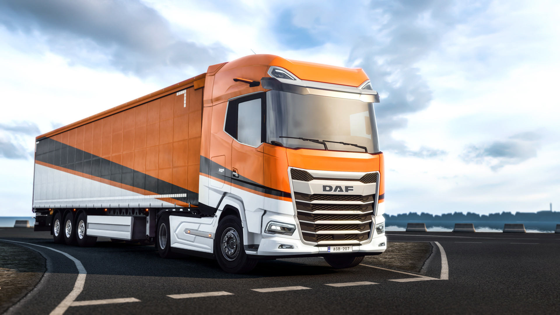 Visiting the sea with the new DAF