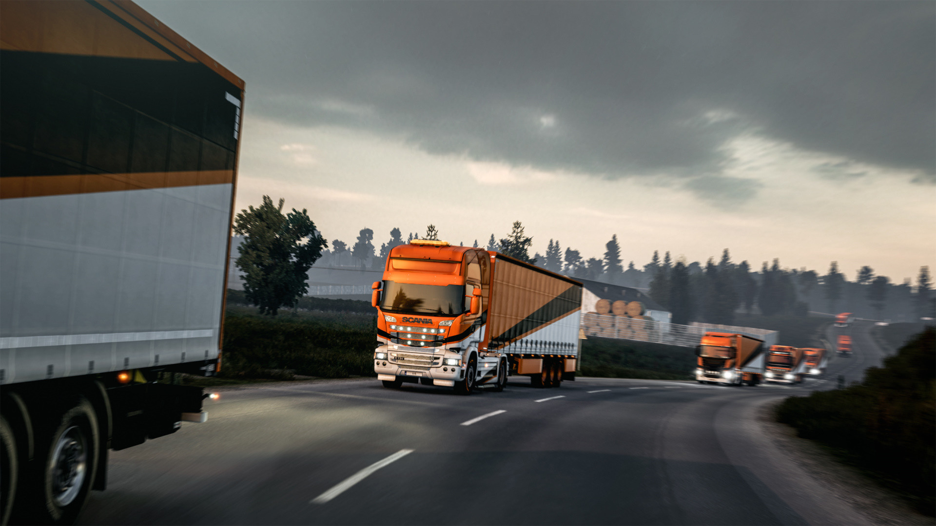 Traveling through the European roads with our trucks!